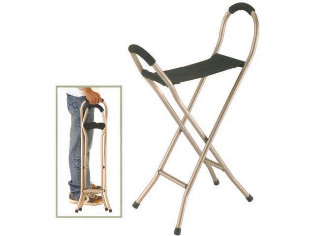מקל הליכה כסא - עם מושב בד לכבדי משקל