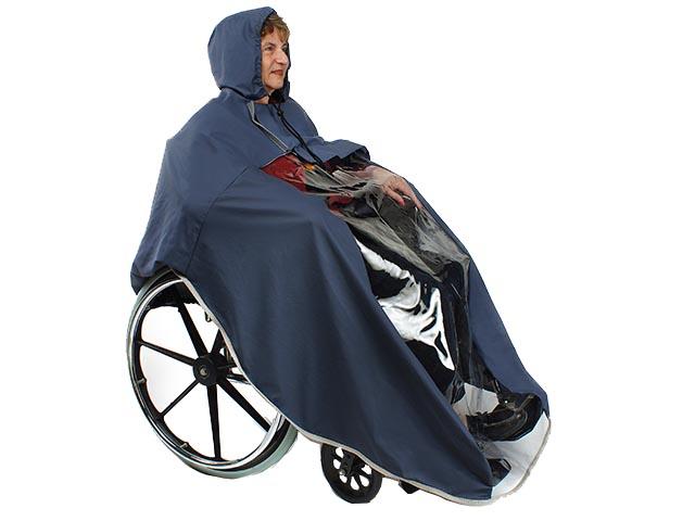 כיסוי גשם לכסא גלגלים להגנה מגשם ורוח