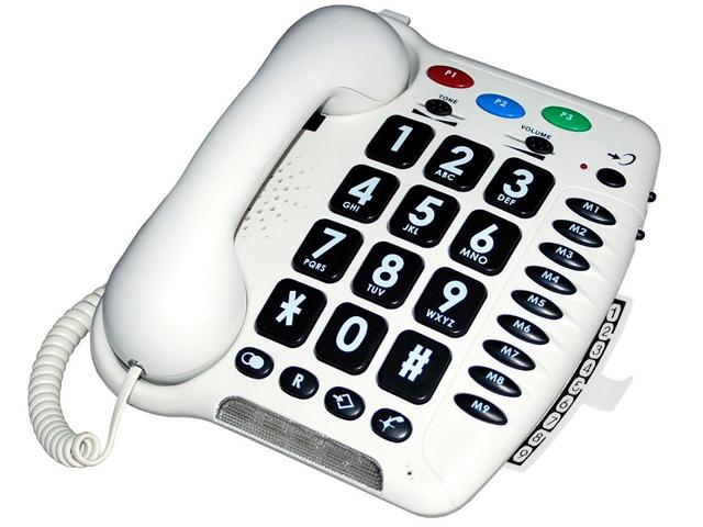 למעלה טלפון ייחודי לחרשים, לאנשים עם לקות שמיעה ולמבוגרים PW-11